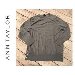 {Ann Taylor} Sweater with Button details